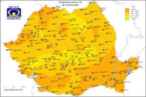 Temperatura aerului la ora 9 dimineata