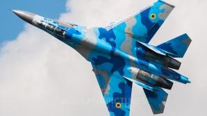 Un avion de vânătoare al Forţelor Aeriene Ucrainene