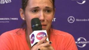 Raluca Olaru, în lacrimi la conferinţa de presă