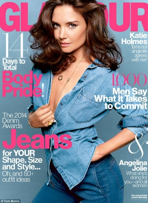 Katie Holmes a pozat topless pentru revista Glamour
