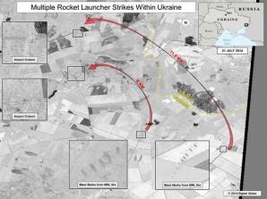 """SUA publică imagini """"care demonstrează că Rusia efectuează tiruri asupra Ucrainei"""""""