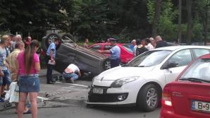 MARTOR OCULAR: accident spectaculos în cartierul Titan din Capitală