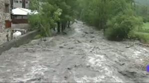 Inundaţii pe mai multe râuri din ţară