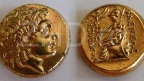 Monede Lysimach din Cabinetul de Numismatica de la Viena, de tipul acelora descoperite, la 1543, de pescarii hunedoreni, in tainita din albia Streiului