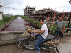 Râul din China s-a înroşit într-o singură oră. FOTO: ABC News