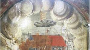 OZN gigant la Biserica Mănăstirii din Sighișoara