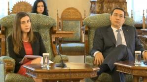 Ioana Petrescu şi Victor Ponta, la discuţiile de la Cotroceni