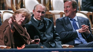 Angela Merkel, Vladimir Putin şi David Cameron