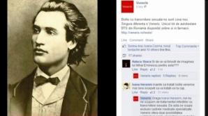 O fotografie cu Eminescu a fost folosităpentru a campanie comercială