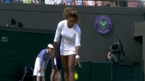 IMAGINI DE GROAZĂ de la Wimbledon, cu Serena Williams