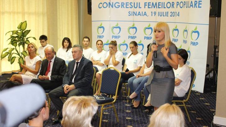 Udrea: Nu ar trebui să existe organizaţii de femei,sunt o autoexcludere de la masa deciziei politice / Foto: Facebook.com