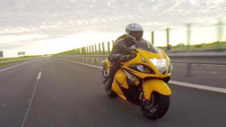 Viteza cu care se laudă un motociclist