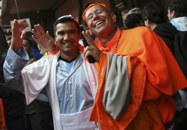 <p>Francisc I şi Benedict XVI</p>