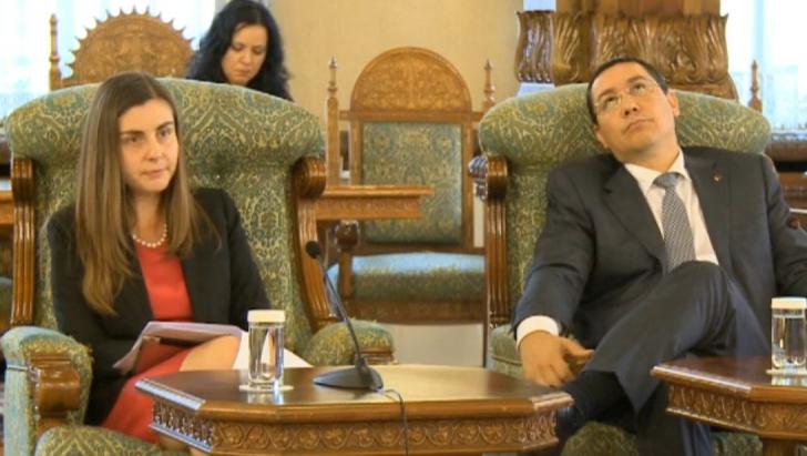 Ioana Petrescu şi Victor Ponta, la discuţiile cu Traian Băsescu de la Cotroceni