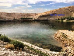 Lac misterios, apărut în deşert. FOTO: Facebook