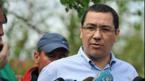 Mașina lui Victor Ponta a încetinit la 100 km pe ora si rămâne fără combustibil