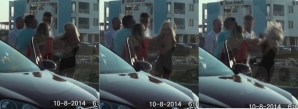 Tânără bătută de mai mulţi bărbaţi, în parcarea unui club