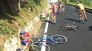 Pantani a avut mai multe accidente în carieră, dar a scăpat din toate