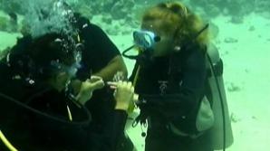 SURPRIZA extraordinară avută de o tânără din Zalău în EGIPT. Ce a primit ea pe fundul Mării Roșii