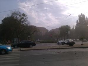 Furtună de praf în Timişoara
