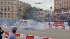 O mașină de Formula 1 a luat foc