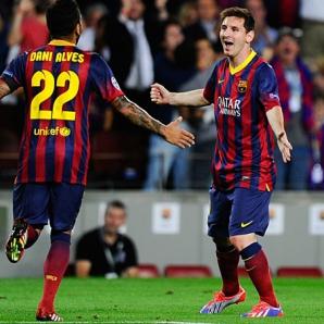 Dani Alves este unul dintre cei mai buni prieteni ai lui Messi la Barcelona