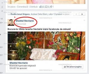 Sfântului Nectarie i se face reclamă plătită pe Facebook