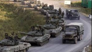 O coloană de blindate rusești înaintează în sud-estul Ucrainei