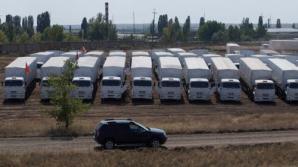 """O parte din camioanele de """"ajutoare umanitare"""" trimise de Rusia în Ucraina"""