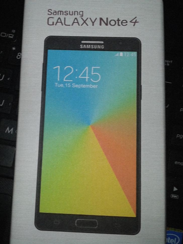 Samsung a scăpat noi imagini OFICIALE cu noul Galaxy Note 4