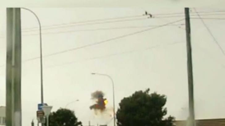 O statuie din Noua Zeelandă a fost distrusă de un fulger, în timpul unei furtuni