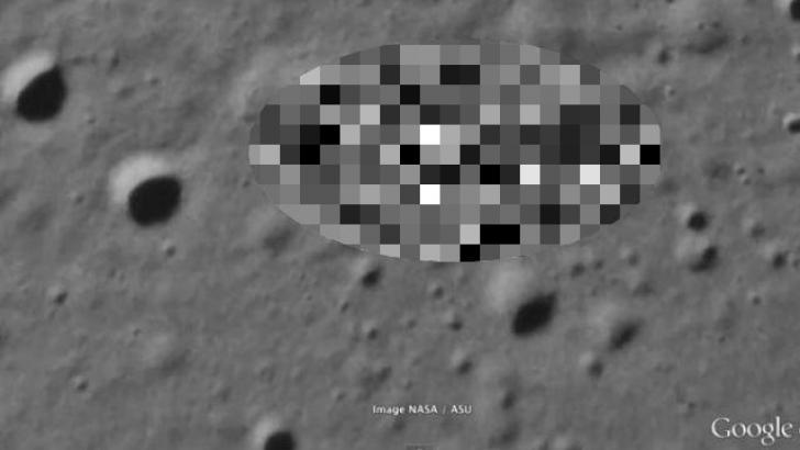 Imagini misterioase surprinse pe suprafaţa Lunii