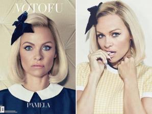 Pamela Anderson, transformată pentru un pictorial în revista No Tofu