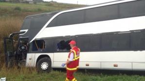 ACCIDENT GRAV: Autocar cu români, RĂSTURNAT ÎN UNGARIA