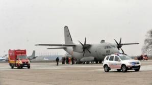 Trei răniți cu arsuri grave transportați cu o aeronavă C-27J Spartan de la Satu Mare la București