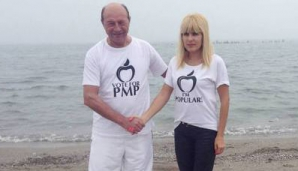 ELENA UDREA şi TRAIAN BĂSESCU, împreună la Congresul PNŢCD