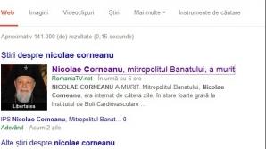 NICOLAE CORNEANU. ROMÂNIA TV l-a declarat mort pe Mitropolitul Banatului