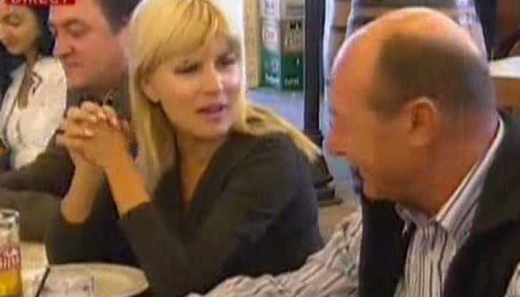 Udrea, Băsescu şi Boc, LA BERĂRIE ÎN HERĂSTRĂU