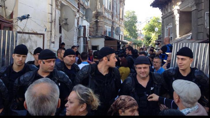 Evacuare silită în Bucureşti