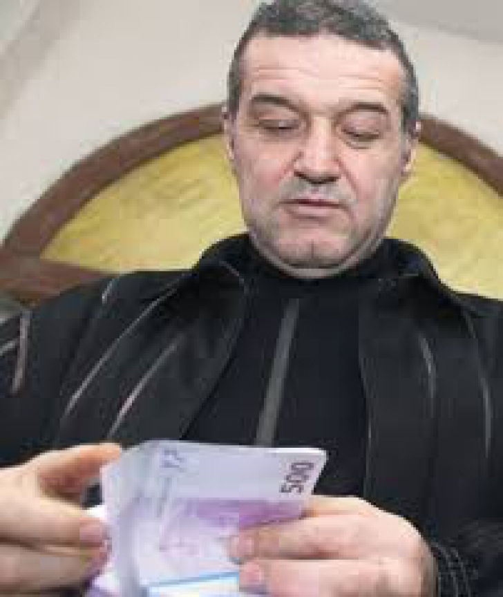 Gigi Becali, pe vremea când făcea pac-pac cu teancurile de bani
