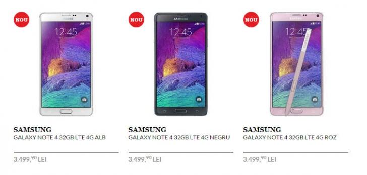 Galaxy Note 4 si Edge ajung în România! Vezi la ce preţuri