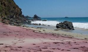 Pffeifer Purple', din California, este una dintre plajele favorite ale locuitorilor din orașele apropiate, nu numai pentru culoarea liliachie a nisipului său, dată de fragmentele de ametist șlefuite de mare, ci și pentru că este un mic paradis aproape ascuns