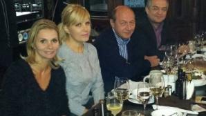 UDREA şi BĂSESCU, la masa împreună în Centrul Vechi - FOTO