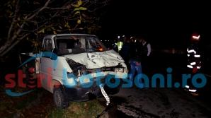 MICROBUZ cu poliţişti de frontieră, izbit în plin de o camionetă: 6 VICTIME