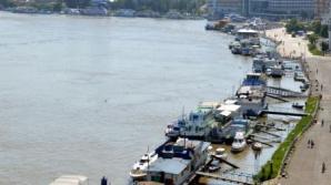 Tulcea: Dunărea a atins COTA DE ATENŢIE în municipiu