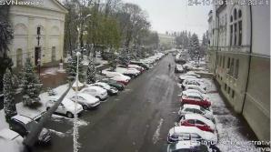 Ninge la Suceava, vineri.
