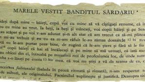 Mihai Eminescu, captivat de vestitul bandit Iorgu Serdaru