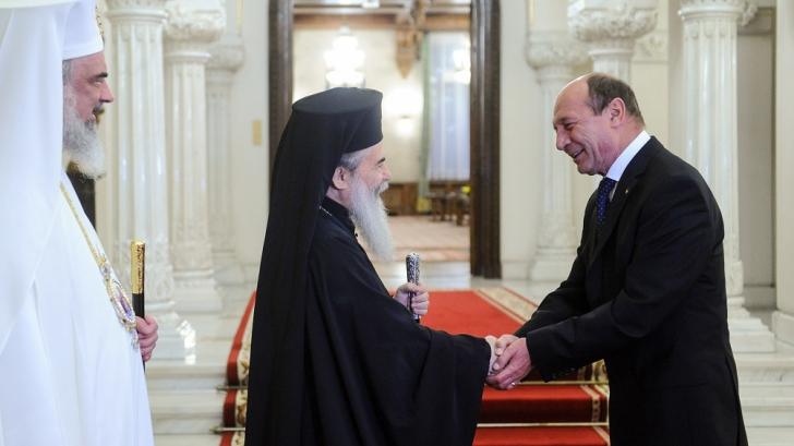 Președintele Traian Băsescu, alături de cei doi preafericiți