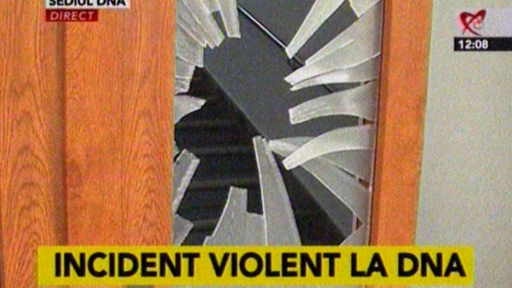 Un bărbat a spart geamul de la uşa DNA