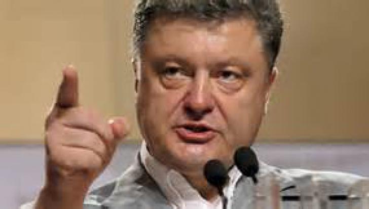 Petro Poroşenko a vorbit în limba română într-un discurs susţinut la Cernăuţi